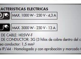 Alargadera Electrica 50 Mts Modelo IP44 Alyco
