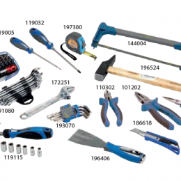 Caja de 3 bandejas con 85 herramientas Alyco