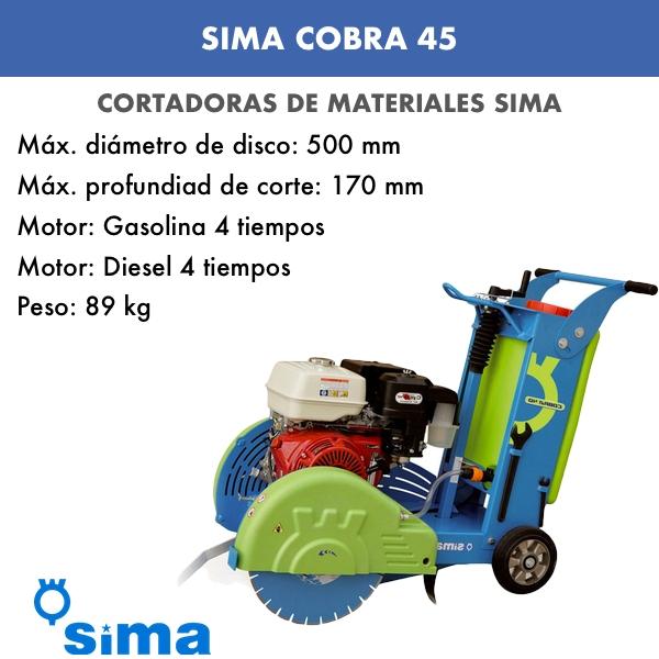 Cortadora de Juntas Modelo Cobra 45 Sima